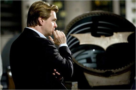 Christopher Nolan on the set of Batman
